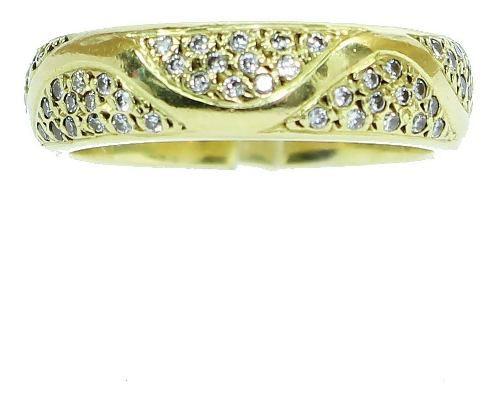 Anel De Ouro 18k750 Diamantes 12x S/j Ft/gt 2617