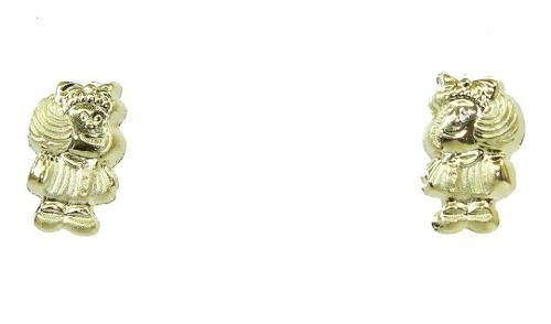 Brincos De Ouro 18k750 Mafalda B312