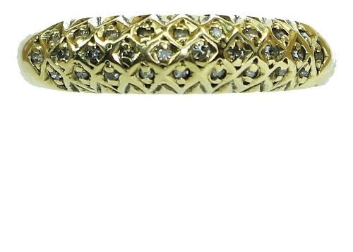 Anel De Ouro 18k750 Diamantes 12x S/j Ft/gt 2615