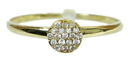 Anel De Ouro 18k750 Diamantes 2622