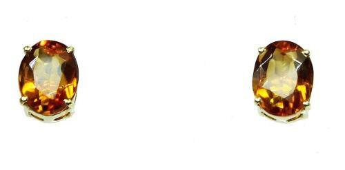 Brincos De Ouro 18k750 Citrinos B321