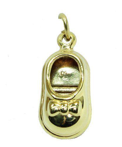 Pingente De Ouro 18k750 Sapatinho Bebe P739
