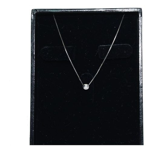 Colar Ouro Branco 18k Diamante 12x S/j Ft/gt C354