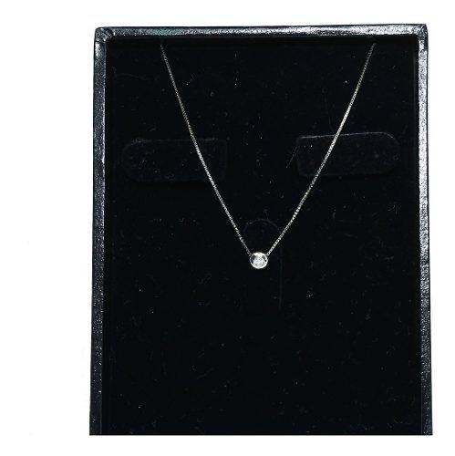 Colar Ouro Branco 18k Diamante 12x S/j Ft/gt C353