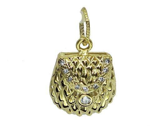 Pingente De Ouro 18k750 Diamantes P749