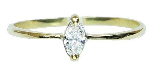 Anel De Ouro 18k750 Diamante 12x S/j Ft/gt 2635