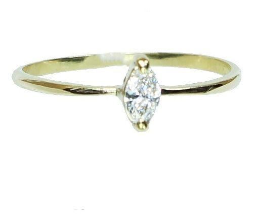 Anel De Ouro 18k750 Diamante 12x S/j Ft/gt 2633