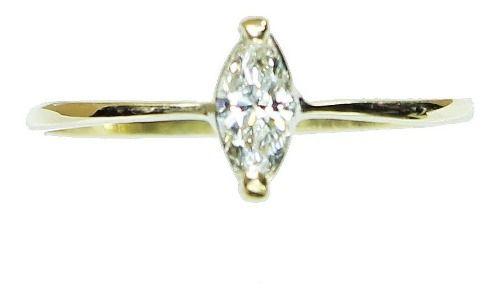 Anel De Ouro 18k750 Diamante 12x S/j Ft/gt 2638