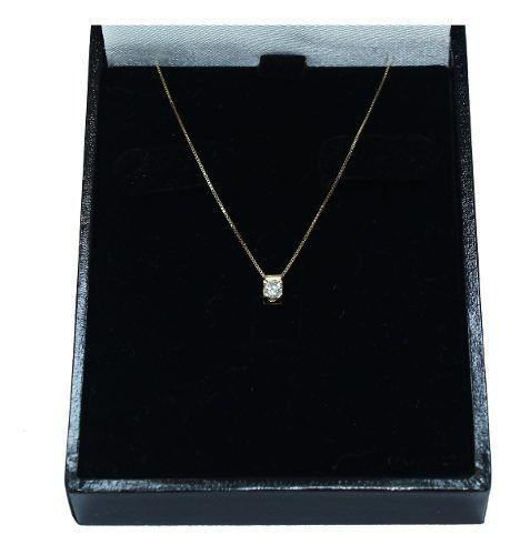 Colar De Ouro 18k750 Diamante 12x S/j Ft/gt C361