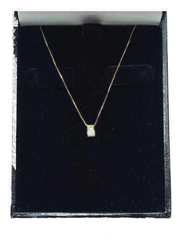 Colar De Ouro 18k750 Diamante 12x S/j Ft/gt C363