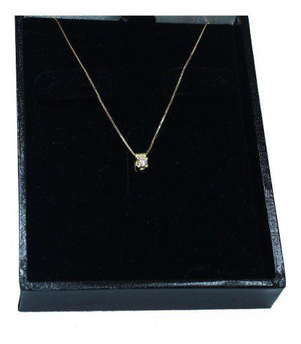 Colar De Ouro 18k750 Diamante 12x S/j Ft/gt C364
