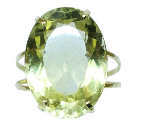 Anel De Ouro 18k750 Green Gold 12x S/j Ft/gt 2644