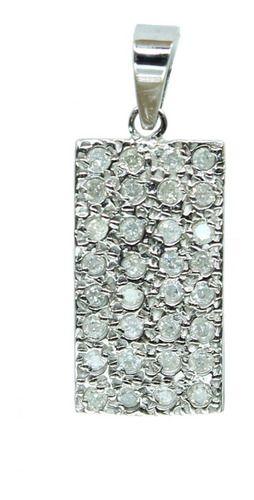 Pingente De Ouro Branco 18k750 Diamantes P750