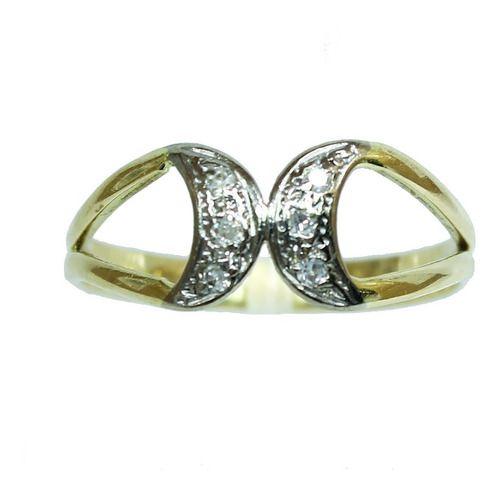 Anel De Ouro 18k750 Diamantes 12x S/j Ft/gt 2663