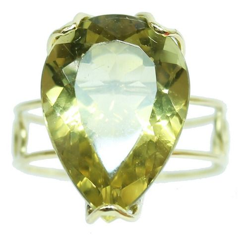 Anel De Ouro 18k750 Green Gold 12x S/j Ft/gt 2653