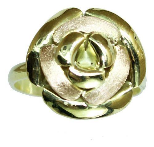 Anel De Ouro 18k750 Flor 12x S/j Ft/gt 2675