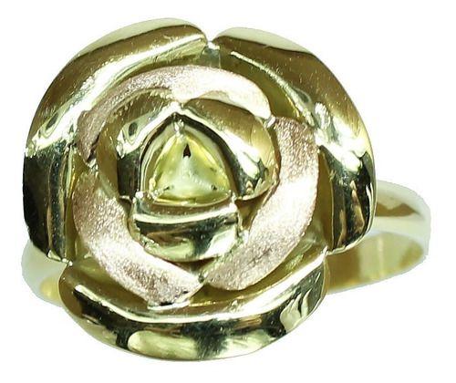 Anel De Ouro 18k750 Flor 12x S/j Ft/gt 2674