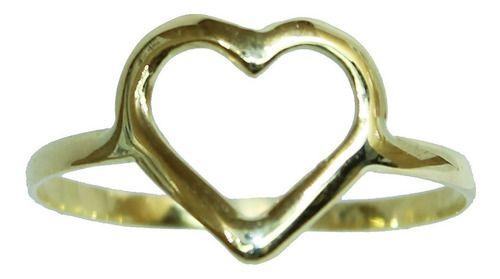 Anel De Ouro 18k750 Coração 12x S/j Ft/gt 2672