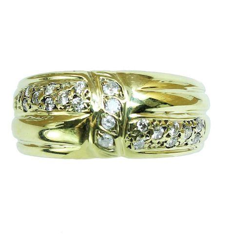 Anel De Ouro 18k750 Diamantes 12x S/j Ft/gt 2671