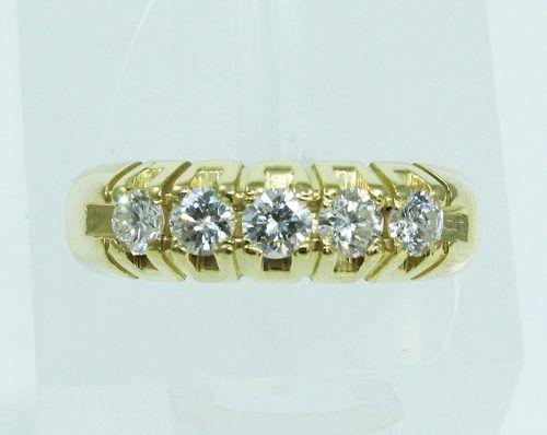 Anel De Ouro 18k750 Diamantes 1985