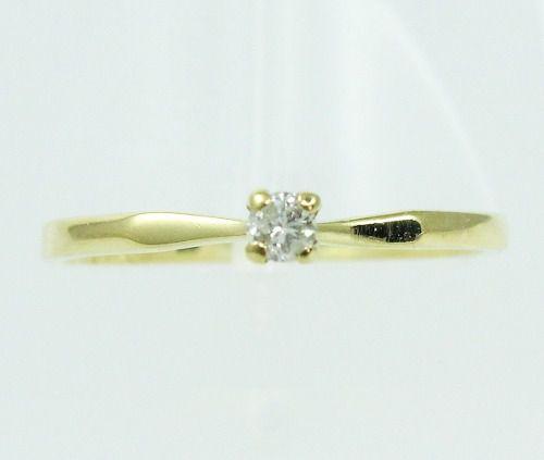 Anel De Ouro 18k750 Diamante 2149