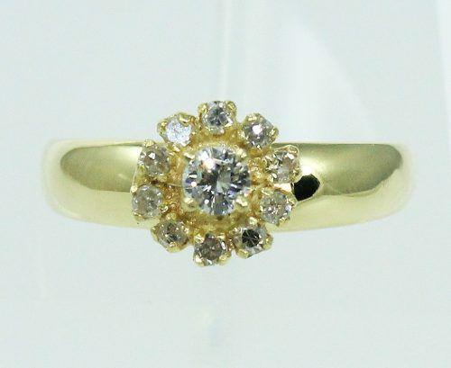 Anel De Ouro 18k750 Diamantes 2146