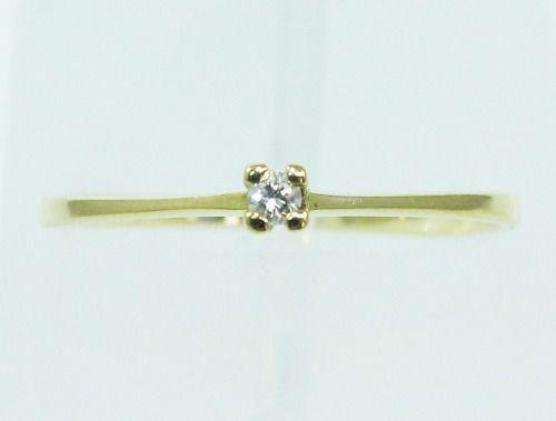 Anel De Ouro 18k750 Diamante 2143
