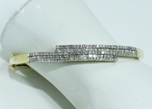 Pulseira De Ouro 18k750 Diamantes Pu42