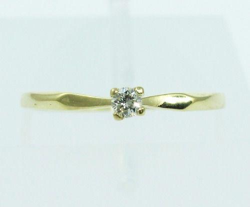 Anel De Ouro 18k750 Diamante 2133