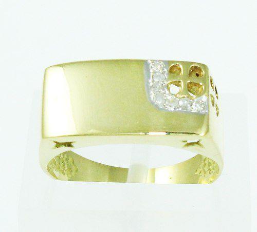 Anel De Ouro 18k750 Diamantes 2131