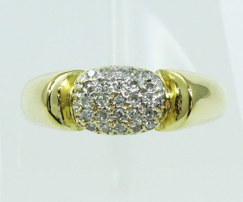 Anel De Ouro 18k750 Diamantes 2130