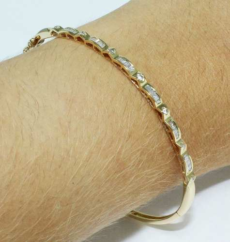 Pulseira De Ouro 18k750 Diamantes Pu43