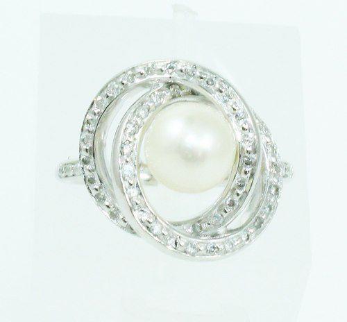 Anel De Ouro Branco 18k750 Diamantes Vivara 2112