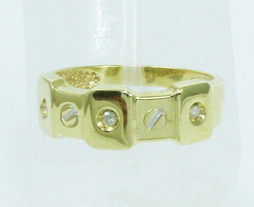 Anel De Ouro 18k750 Diamantes 2114