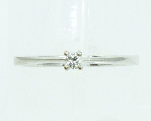 Anel De Ouro Branco 18k750 Diamante 2111