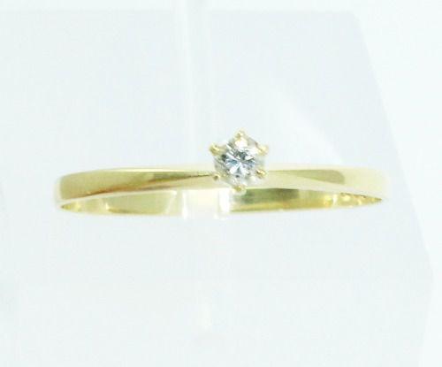 Anel De Ouro 18k750 Diamante 2109
