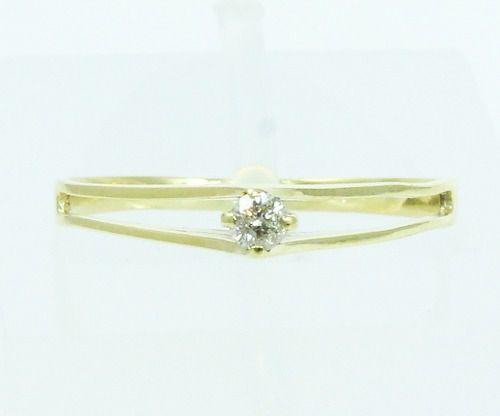 Anel De Ouro 18k750 Diamante 2107