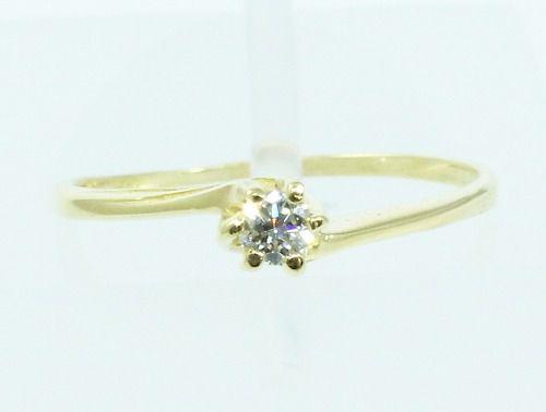 Anel De Ouro 18k750 Diamante 2108