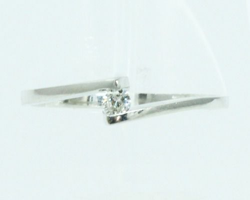 Anel De Ouro Branco 18k750 Diamante Duque 2099