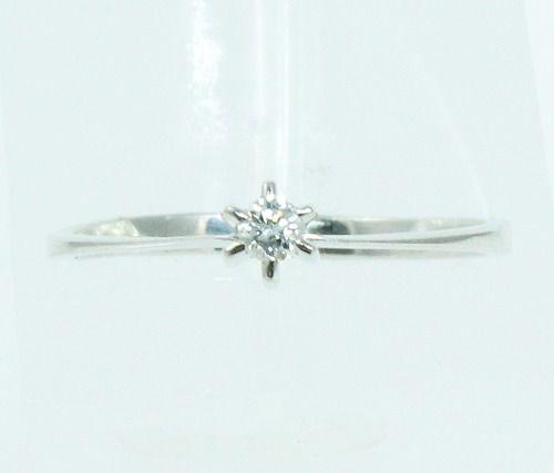 Anel De Ouro Branco 18k750 Diamante 2095