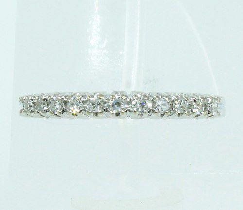 Anel De Ouro Branco 18k750 Diamantes 2097
