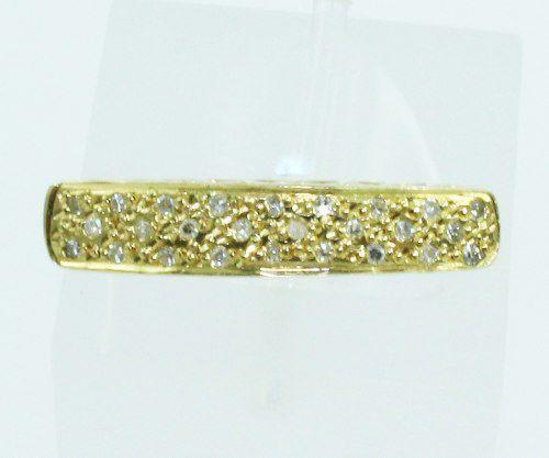Anel De Ouro 18k750 Diamantes 2087