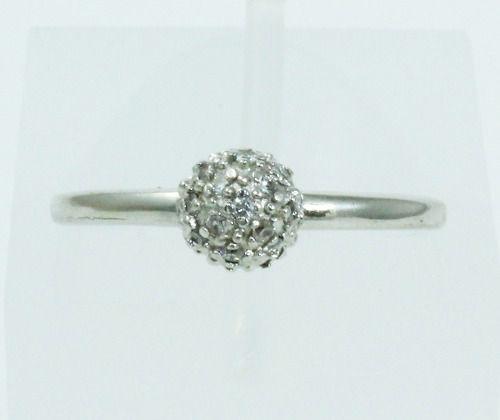 Anel De Ouro Branco 18k750 Diamantes 2082