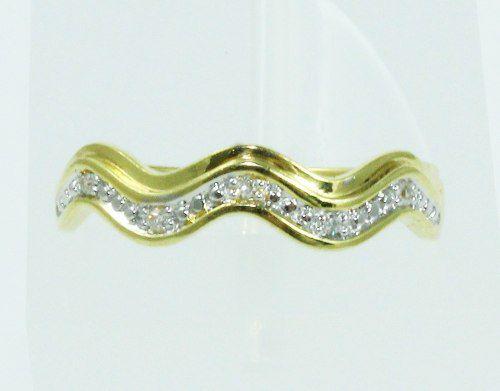 Anel De Ouro 18k750 Diamantes 2080