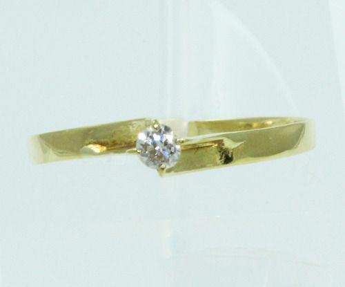 Anel De Ouro 18k750 Diamante 2078