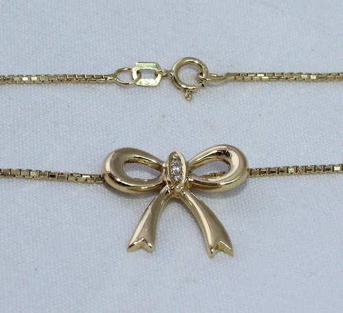 Colar De Ouro 18k750 Diamantes C189