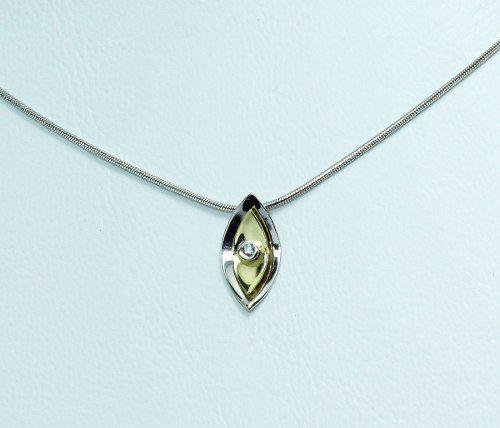 Colar De Ouro Branco 18k750 Diamantes C26