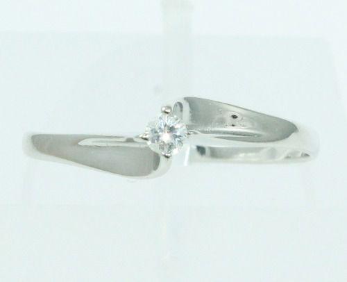 Anel De Ouro Branco 18k750 Diamante 2063