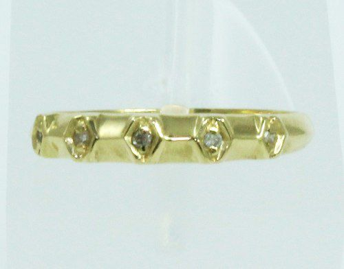 Anel De Ouro 18k750 Diamantes 2056