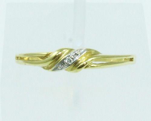 Anel De Ouro 18k750 Diamantes 2054